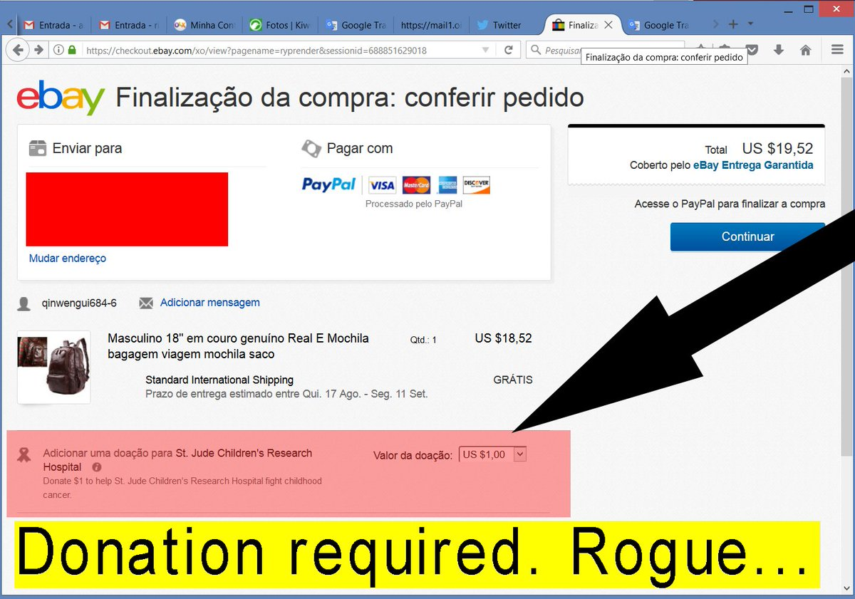 Xxx On Twitter Ebay Obliges The User To Make A Mandatory Donation Since Ebay Wants To Help The Hospital Make The Donation Channels Disadvantages Https T Co Et9nafgelz