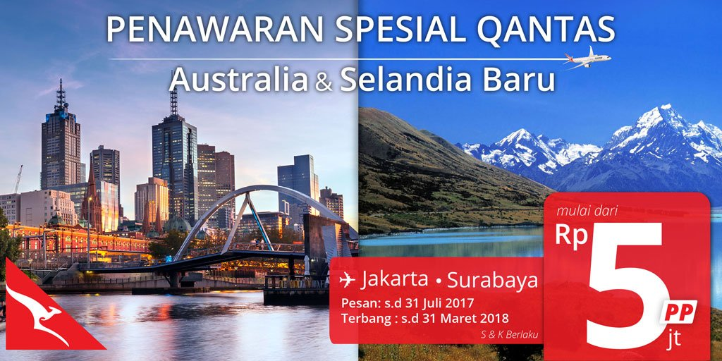 Nusatrip On Twitter Penawaran Special Qantas Tiket Pesawat Pp Ke