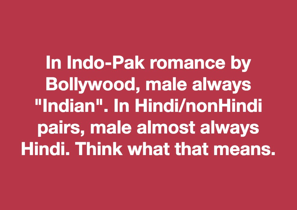 #Imperial race males conquer #other race females. That is the #IdeaOfIndia as per #Bollywood. @South_Indians @Razarumi @omar_quraishi<br>http://pic.twitter.com/LjwtmlPHbK