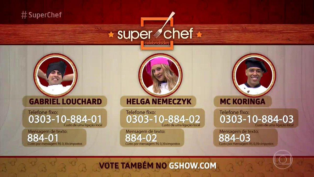 Vota, gente! 😉 #SuperChef #MaisVocê