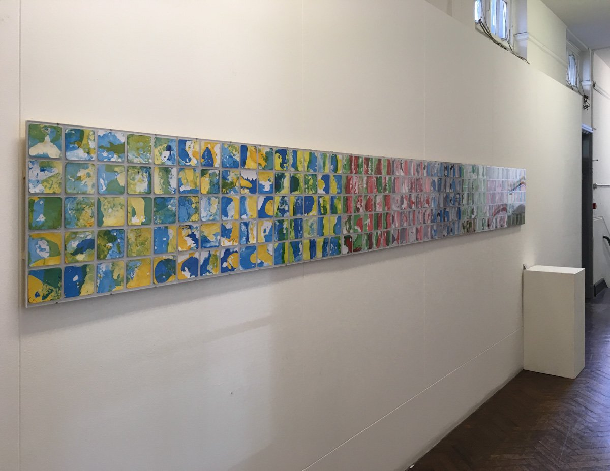 My #abstractart installation uses #marblingart to explore #hybridity and #thirdspace. If you have a large space I&#39;m open for #commissions.<br>http://pic.twitter.com/Nmp5HKzyVk