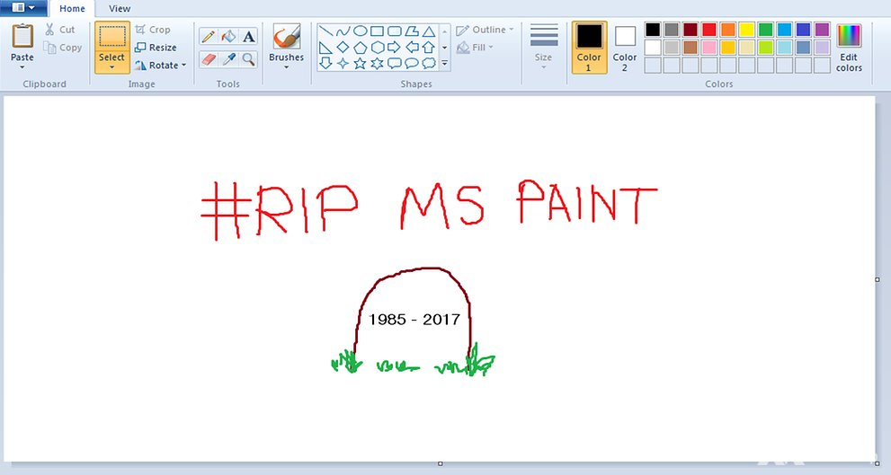 Microsoft Paint could be dropped from future Windows releases https://t.co/TXTcRjsXS9