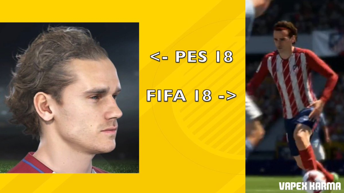 There is a minor tweak to the Griezmann FIFA 18 face, did you notice it?  http:// youtu.be/EUjM-P2ngpA  &nbsp;   #fifa18 #fifa17 #fifa #griezmann #pes2018<br>http://pic.twitter.com/7JL3ZrFwIq