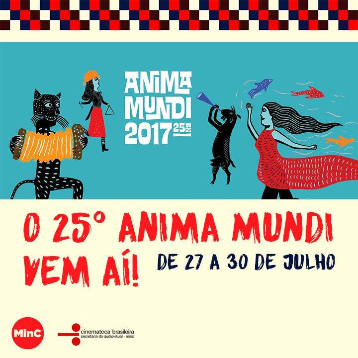 #Écultura l 25º Festival Internacional @Anima_Mundi vem aí. De 27 a 30 de julho, em SP: https://t.co/yoZMhXQ4zR