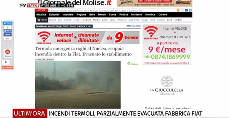 #UltimOra Incendi #Termoli, parzialmente evacuata fabbrica #Fiat https://t.co/0kxapzvQk0