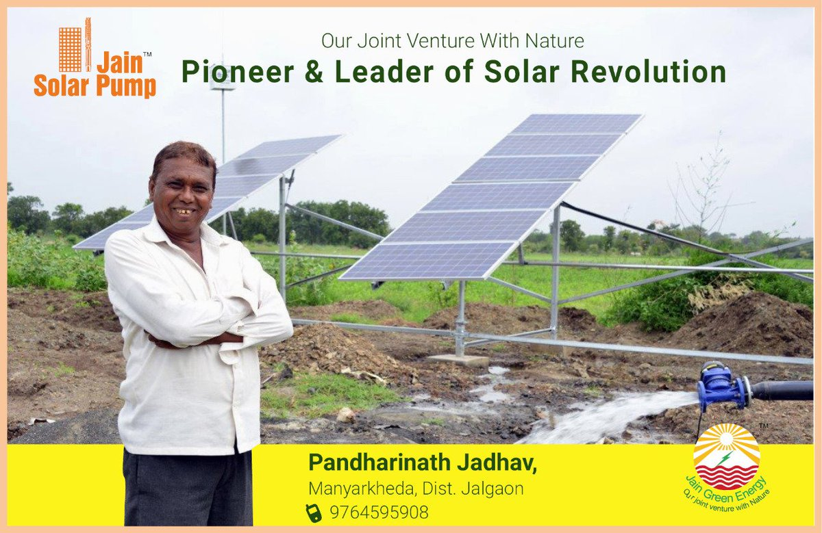 #Farmer Padharinath Jadhav installed 5 HP BLDC #Solar Pumping system.Nice to see Happy Farmer &quot;The best bottomline is farmer&#39;s smile&quot; <br>http://pic.twitter.com/my52EvHGEh