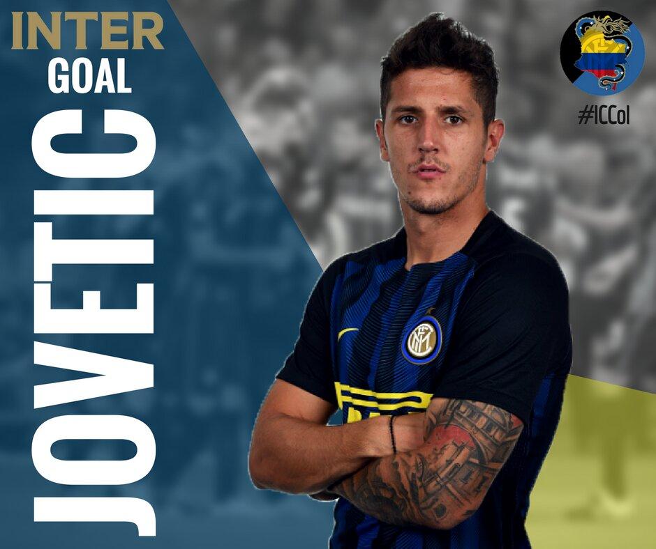 Inter-Lione: risolve Jovetic su assist di Joao Mario