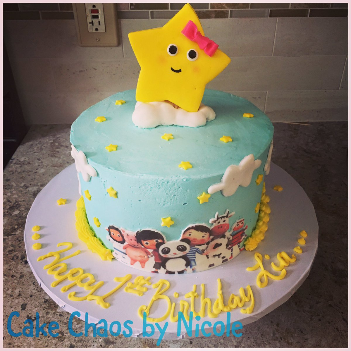 Cake Chaos by Nicole on Twitter Happy First Birthday Lia Custom