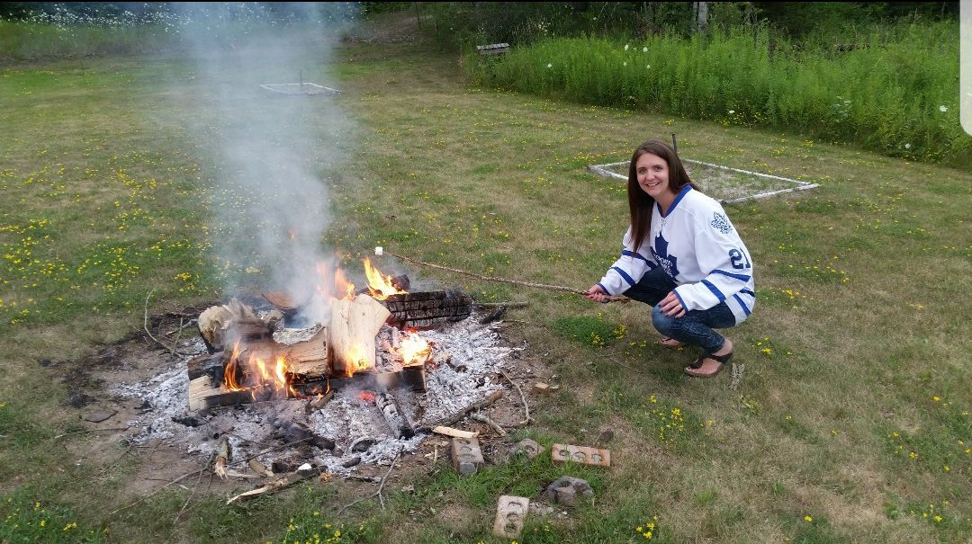 @CanadianTire My #Campsiteview roasting marshmallows while reppin' my...