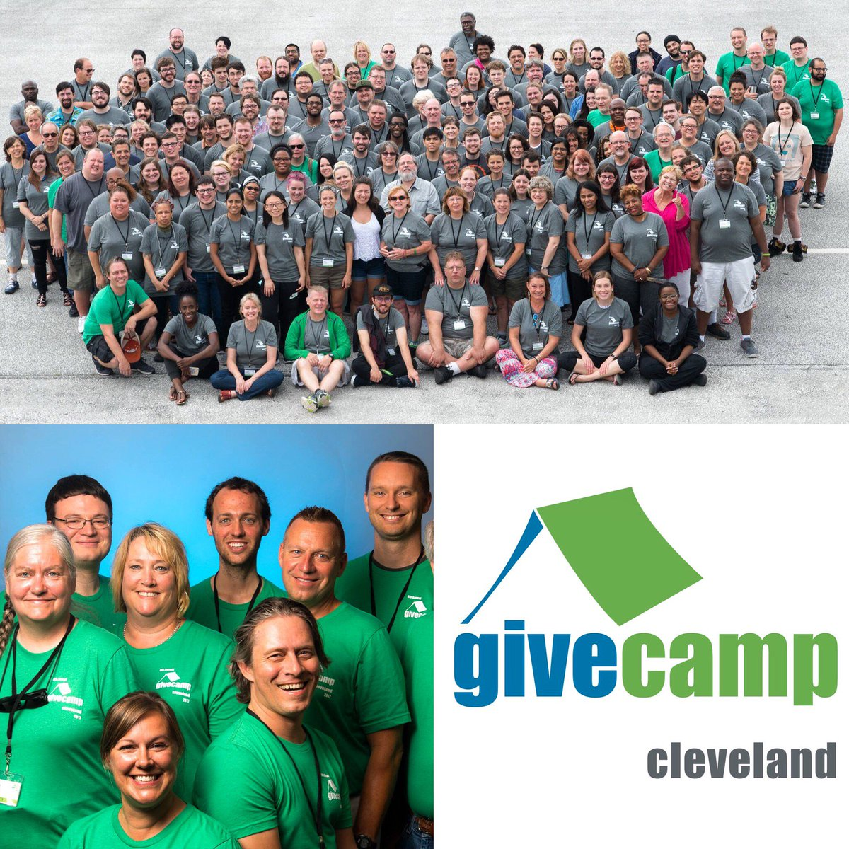 Members of our #Applications team, Ross (bottom-left: middle back) &amp; Sean (top: middle front) had a great weekend at @clegivecamp! #clegc<br>http://pic.twitter.com/4qNyH0Ej8r