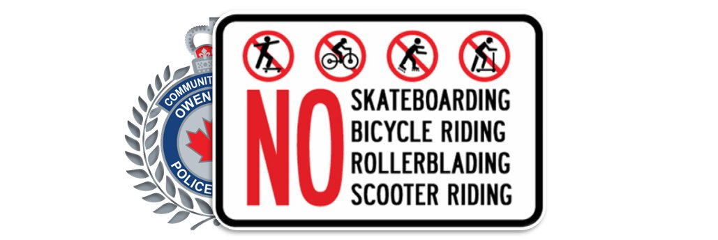 #REMINDER You are not allowed to #RIDE #SKATE #SCOOT or #ROLL on any sidewalk in the downtown core #OwenSound#SafetyForAll#160yrsOSPS<br>http://pic.twitter.com/BHtXkwFwRN