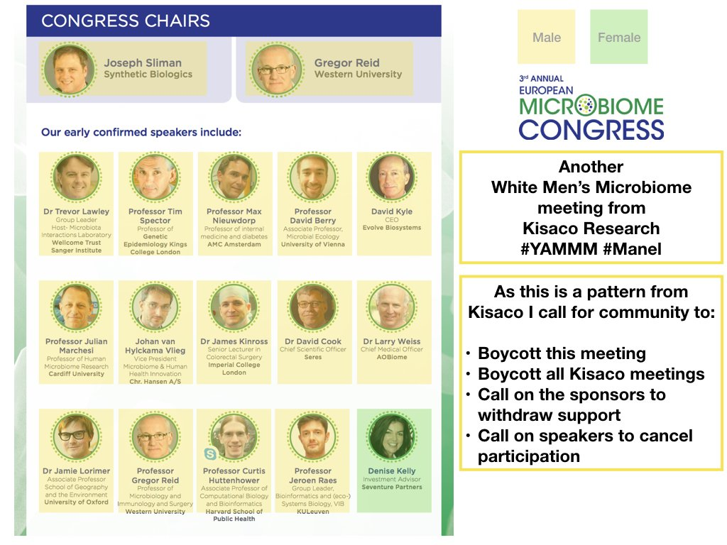 Another white men's microbiome meeting from Kisaco #YAMMM #manel #STEMDiversity  https://t.co/4RG5RY5HiB https://t.co/lChj1ilHCA