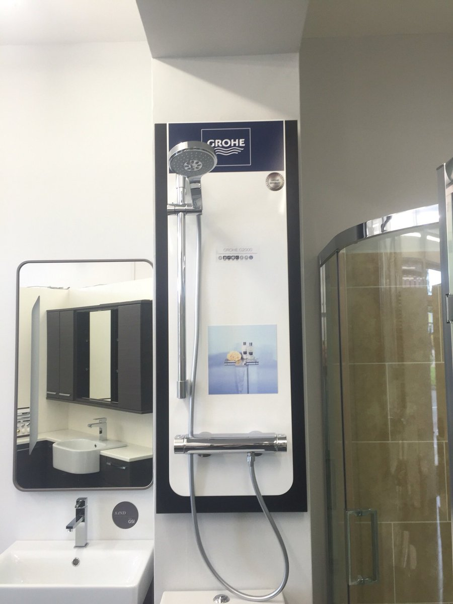 @grohe on display in our showroom, plus catalogues available #Bathrooms #bathroomdesign #design #bathroomdesign #firstclass #burghheath<br>http://pic.twitter.com/Vmlkbx7Y5D
