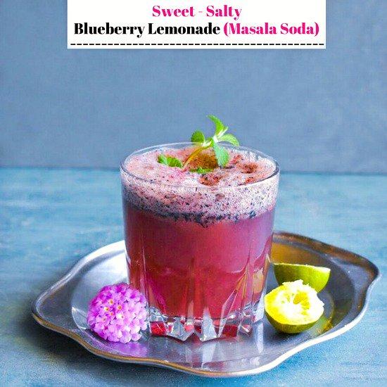 Sweet Salty Blueberry Lemonade (#Masala...