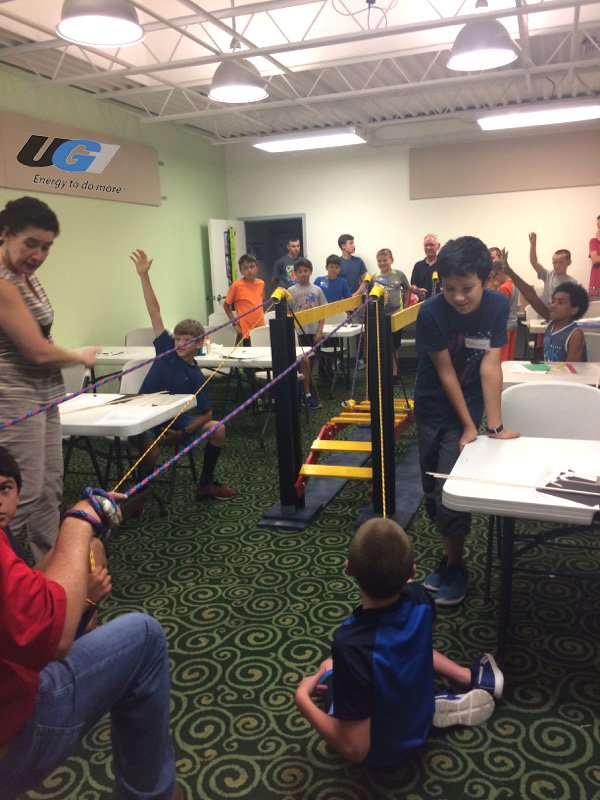test Twitter Media - Students participating in the UGI sponsored Lancaster Science Factory Summer Camps practice #STEM learning during their Bridge Mania camp. https://t.co/g8lZzto23q