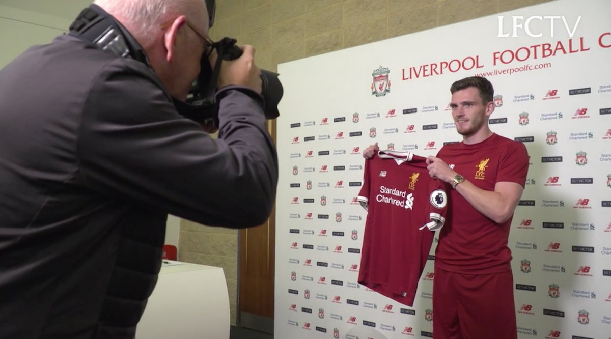 🎥 Take a look behind the scenes as @andrewrobertso5 seals a switch to #LFC: