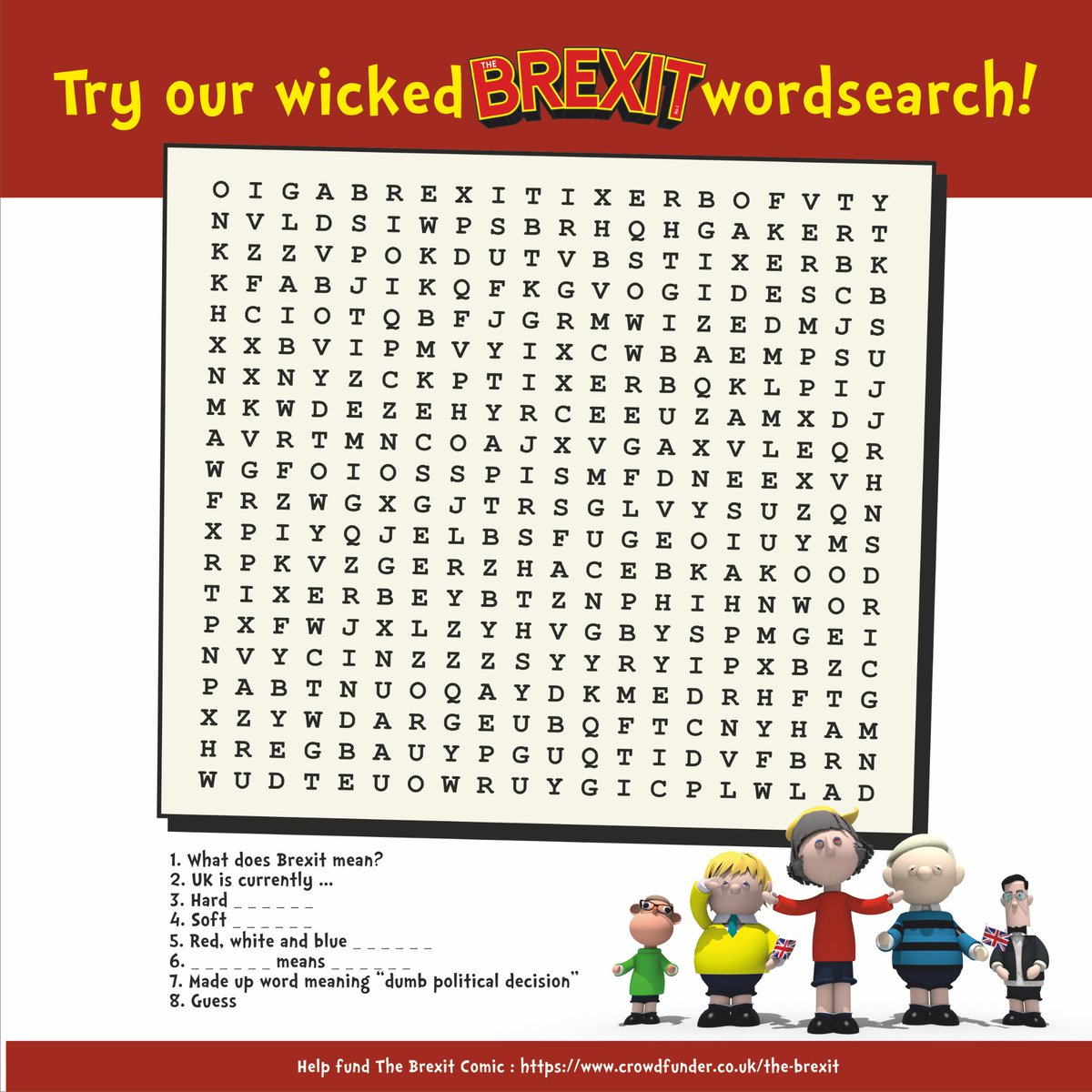 We\'ve reached £1000!  To celebrate here is a fiendishly difficult wordsearch for you.