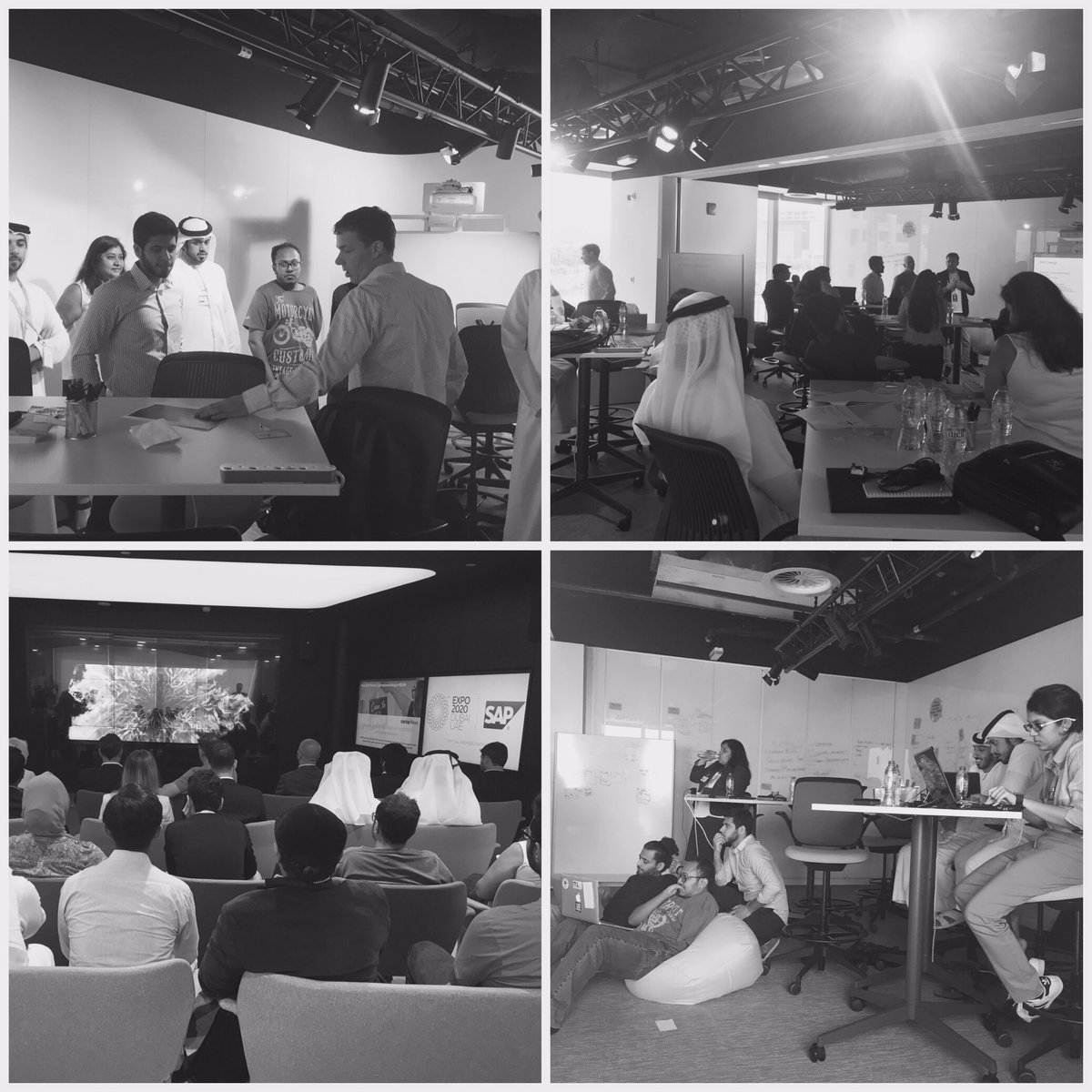 Good luck &amp; happy hacking 2 all participating teams @sap @expo2020dubai hackathon Disruptive apps are in d-making #mydubai #innovate #design<br>http://pic.twitter.com/WvwxNQZu8k