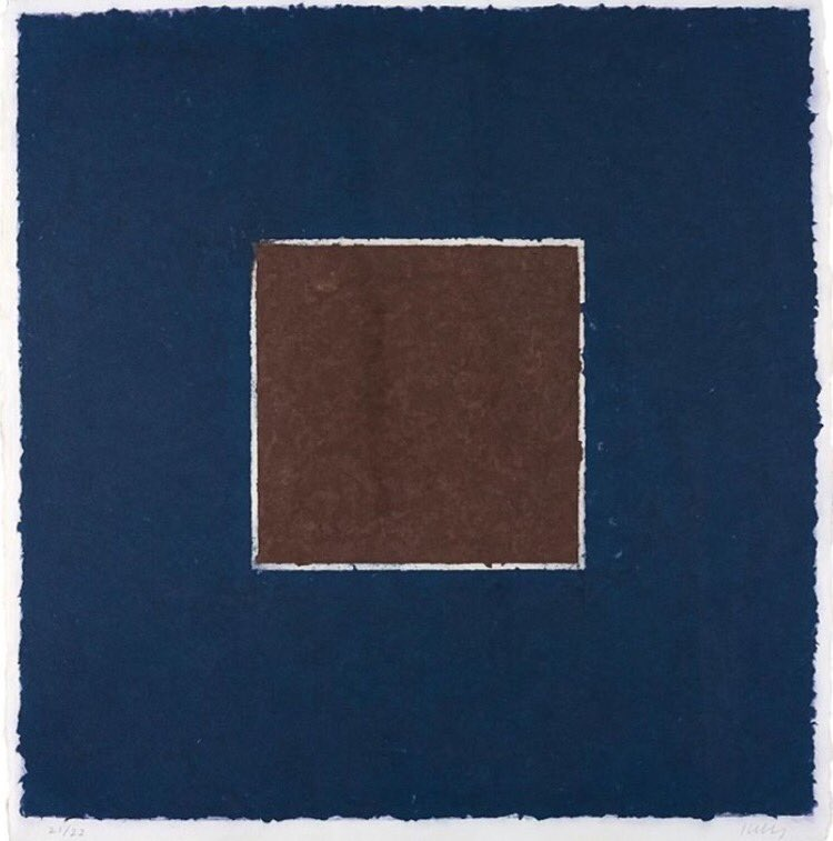 Brown Square with Blue, 1976  #EllsworthKelly (1923-1915) #art<br>http://pic.twitter.com/ClOwUNiLAu