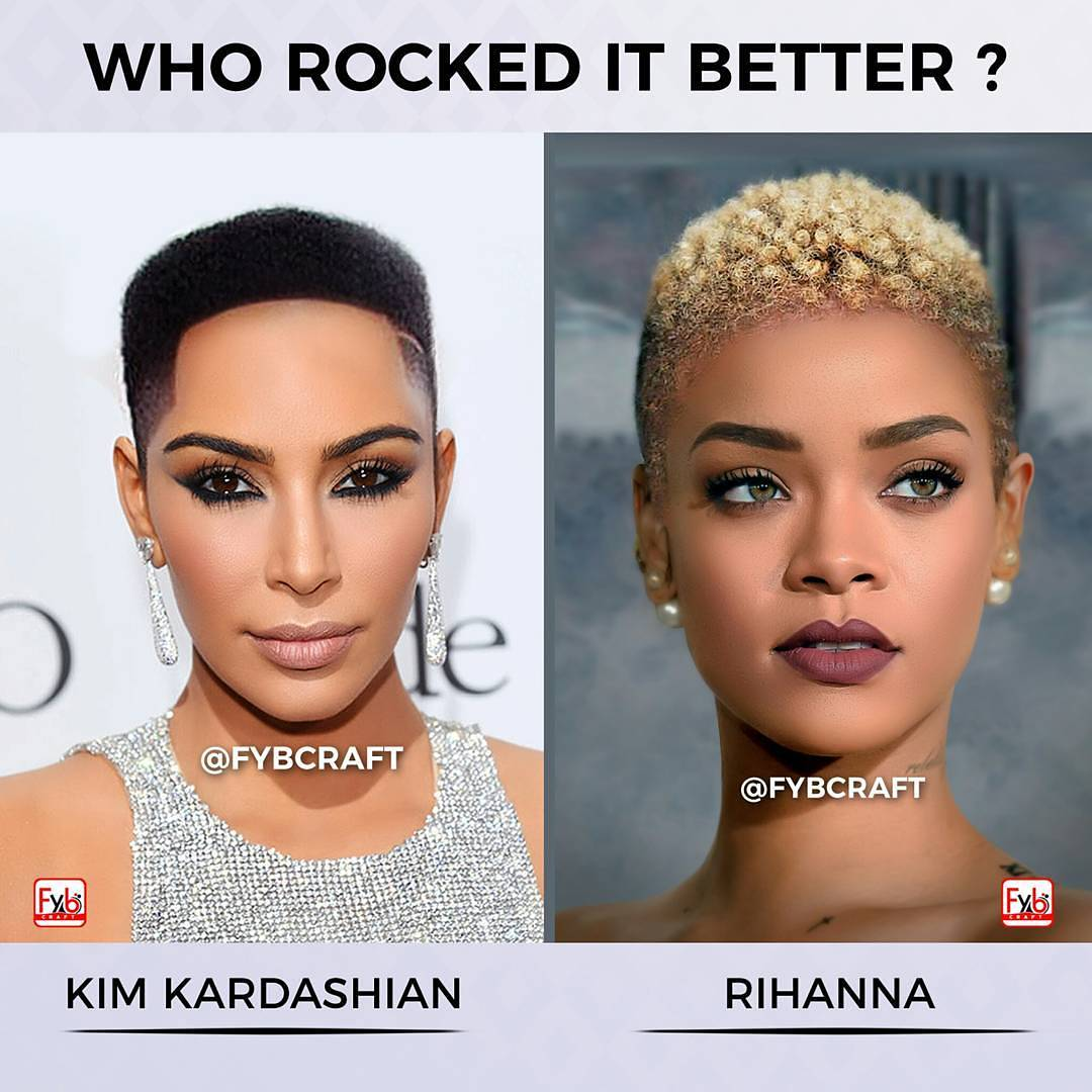 RT for Rihanna Like for Kim Kardashian  (via- IG/fybcraft )