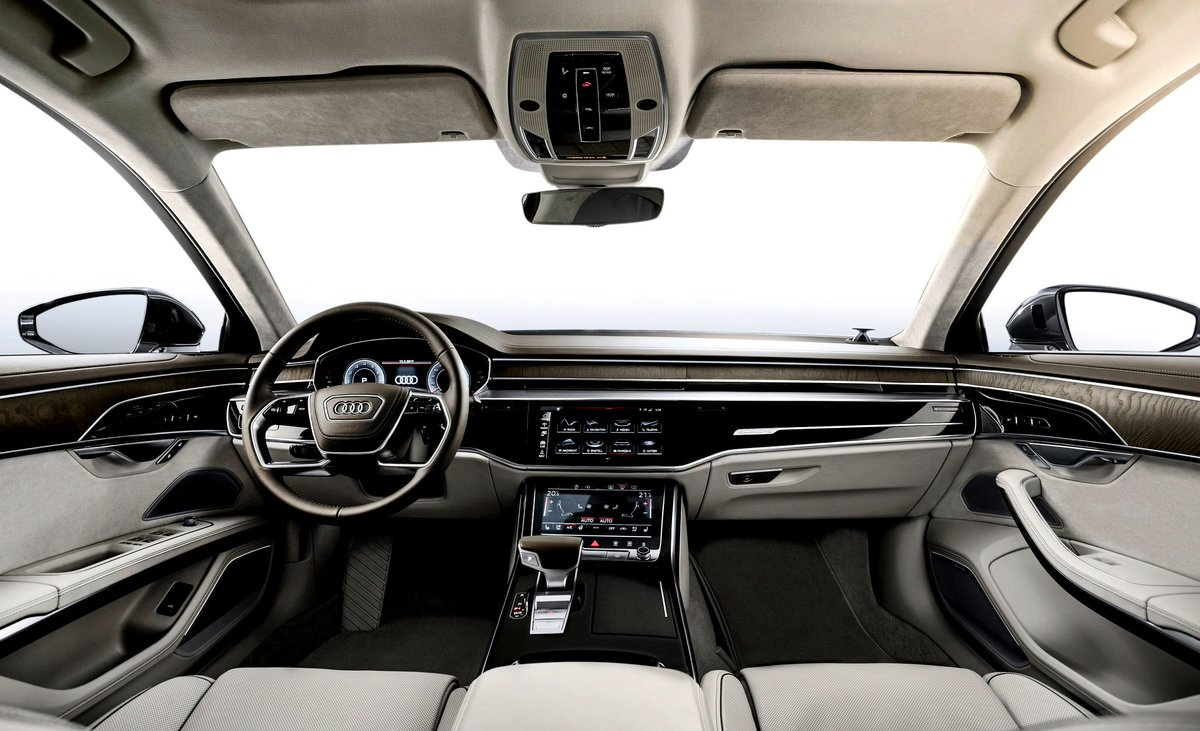 The world on a big screen. #AudiA8 #allnew #interior https://t.co/rLViTvM4XE