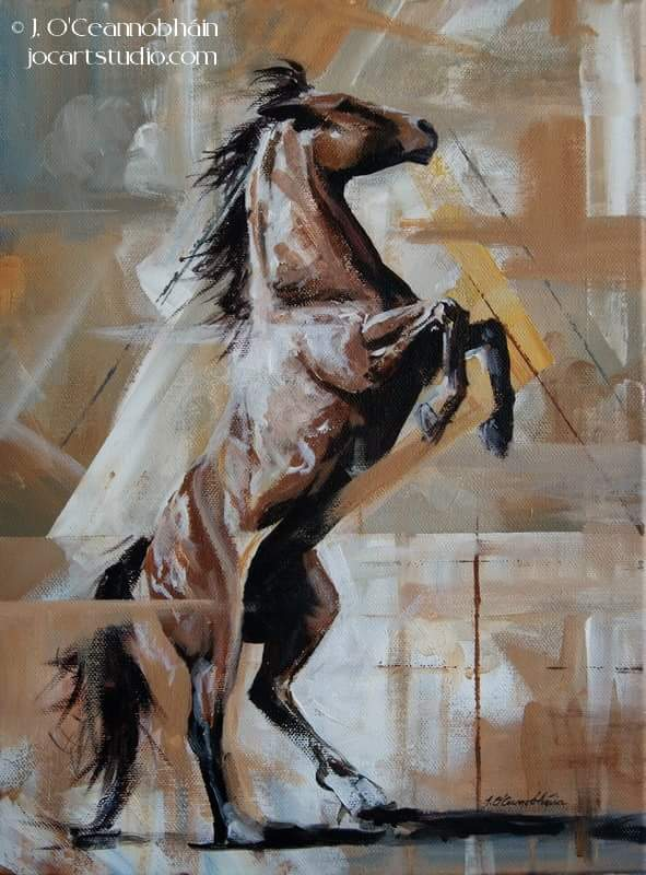 A bit different from my usual style but I&#39;m really enjoying this technique #EquineHour #equine #horsebloggers #EquineArt #horseart <br>http://pic.twitter.com/9oFhd636Ee