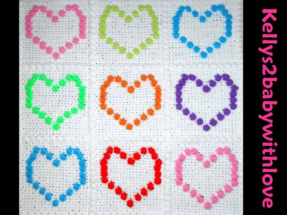 Handmade Crochet Multicoloured Heart Bobble Style Baby Cot Blanket - Nurs…  http:// etsy.me/2rpohD1  &nbsp;   #Crochet #Blanket <br>http://pic.twitter.com/y4UZbA3Hqo