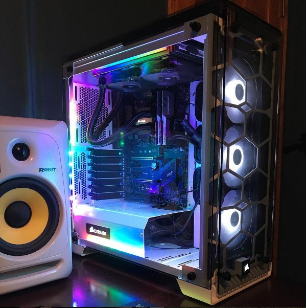 newegg on twitter super clean white rgb pc by kristian s