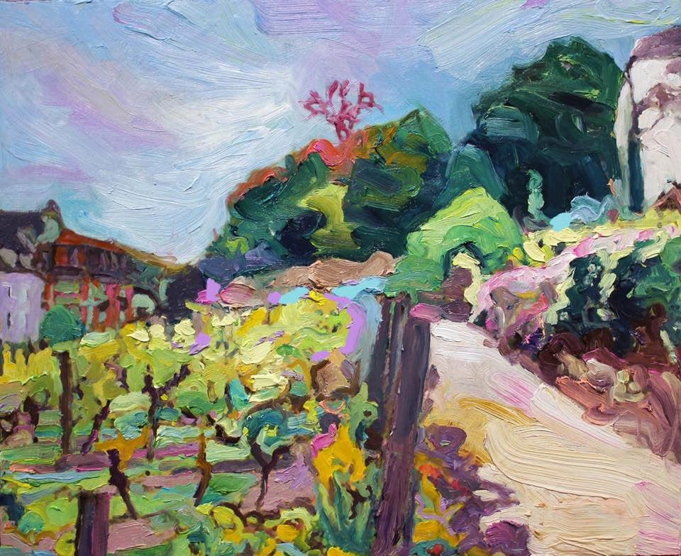 """montmartre clos"" 35X45 ...fascinated by this secret vineyard, the last winery in #Paris... #emergingartist #modernart #montmartre<br>http://pic.twitter.com/Zwpo7N0sad"