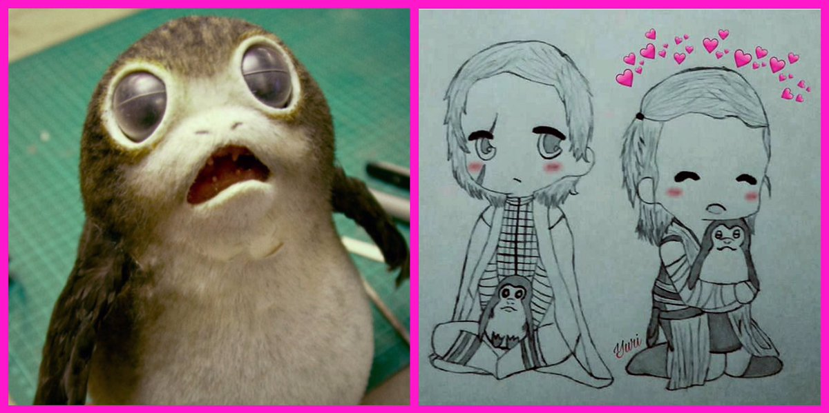 Aren&#39;t Porgs adorable? But how cute is the #FanArt showing #Luke and #Rey with Porgs! Awesome? #LovePorgs! @HamillHimself<br>http://pic.twitter.com/4qwCDeCqF7