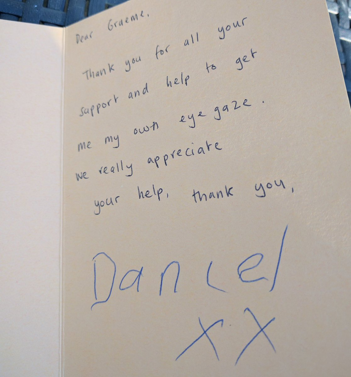 Humbled to receive this thank you card today from an amazing new client #thinksmartbox #CHAS #dicoveringhiddenpotential<br>http://pic.twitter.com/7JhjCW06B8