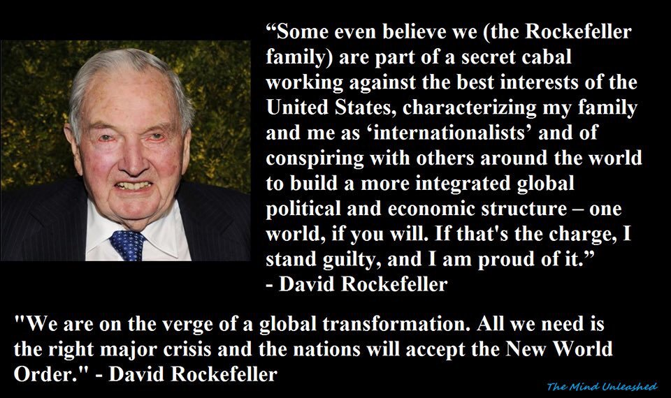 READ THIS❗️😬  David Rockefeller wrote this in his book.OMG❗️It's happe...
