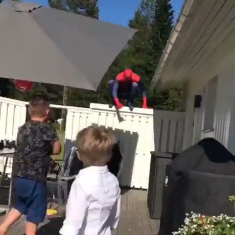.@Canucks goalie Anders Nilsson dressed up as @Spiderman for his son's...