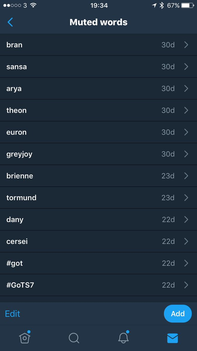 Muting every time I get spoiled