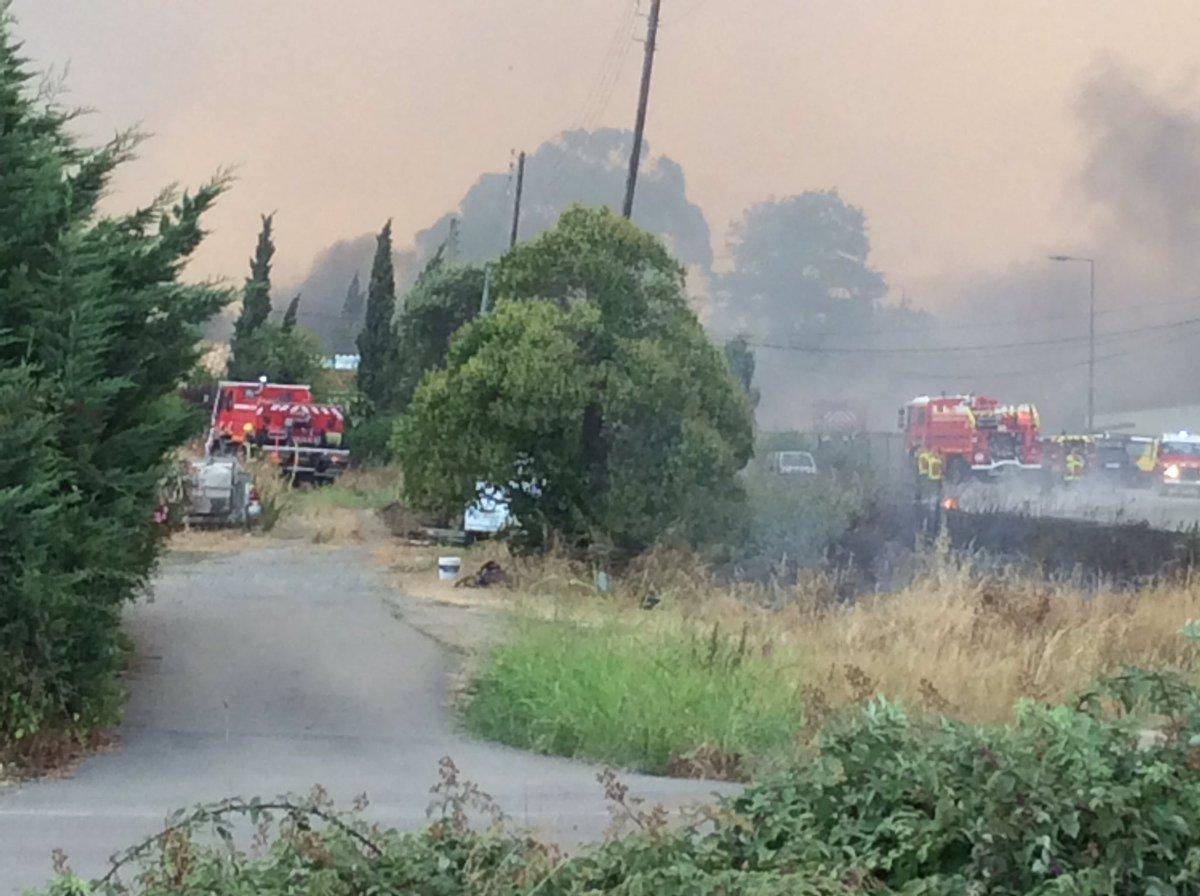#Biguglia Le feux est sous contrôle,1500 ha parcourus, pas de victimes. Merci aux secours qui luttent sans relâche
