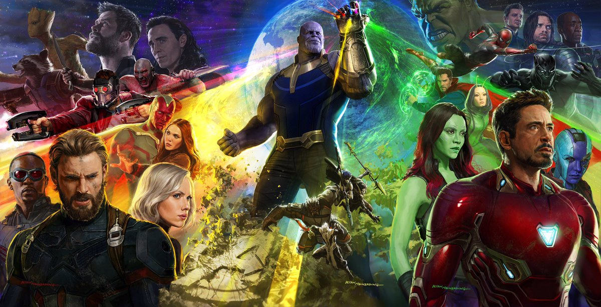 What a weekend! Thanks for the #infinitywar poster love. This might have been my most challenging piece of art yet! #sdcc #avengers #marvel <br>http://pic.twitter.com/jeadWV4sun