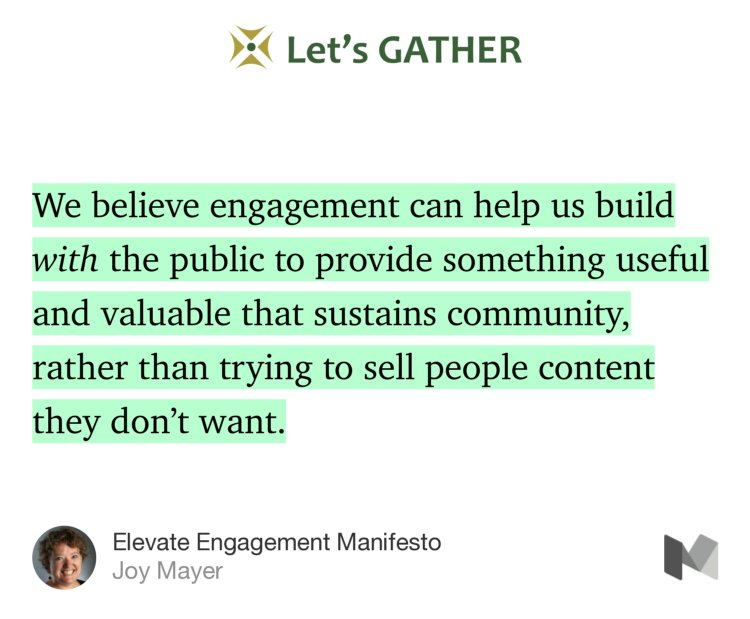 The energy of #PDXEngage17 I attended for @wearehearken, distilled into the Elevate Engagement Manifesto  @mayerjoy  https:// medium.com/lets-gather/el evate-engagement-manifesto-26b3822bc6c7#---286-466 &nbsp; … <br>http://pic.twitter.com/WQD2KgnhLi