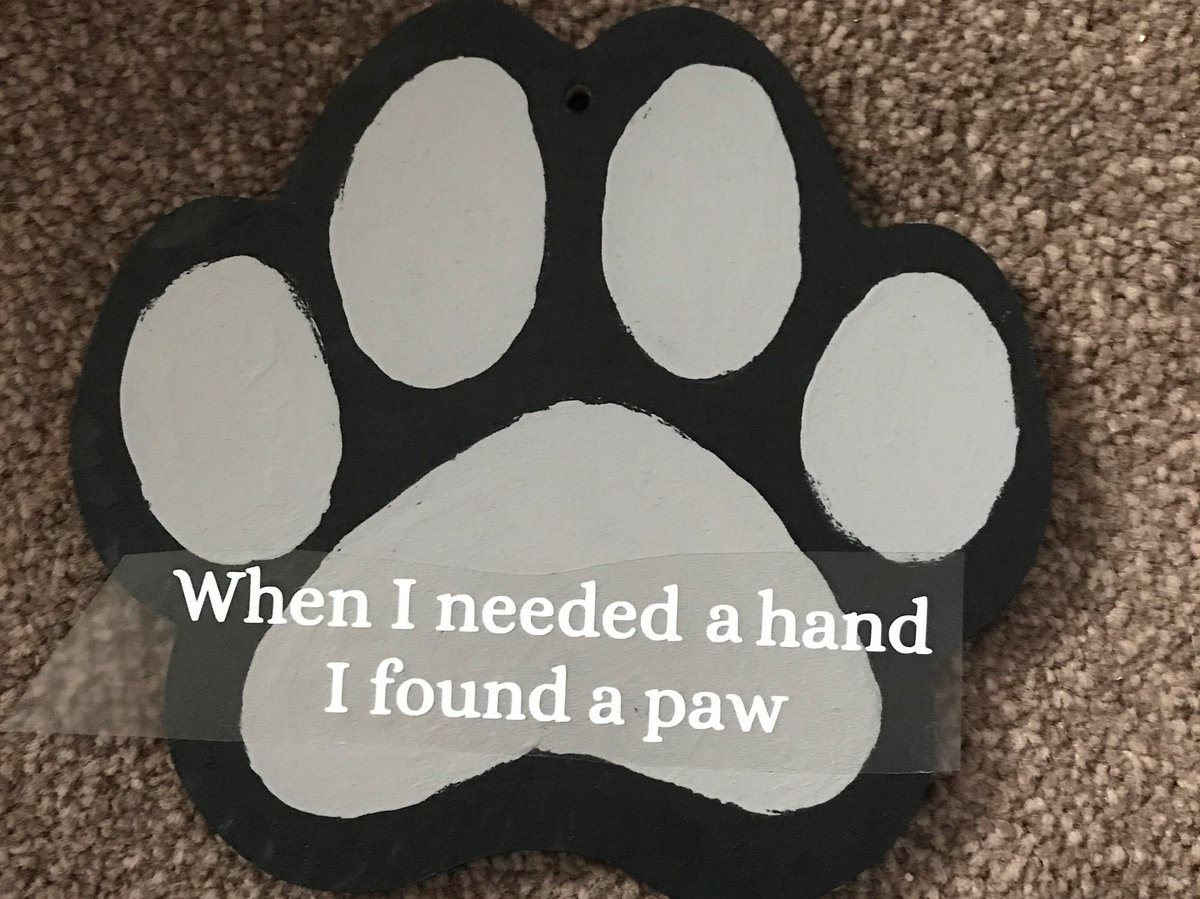 A bit of late night crafting #doglovers #dogs #cats #paws #pawprint #bestfriends #cute #handpainted #helpingpaw #animals #quotes #friend <br>http://pic.twitter.com/xabl9auVBp