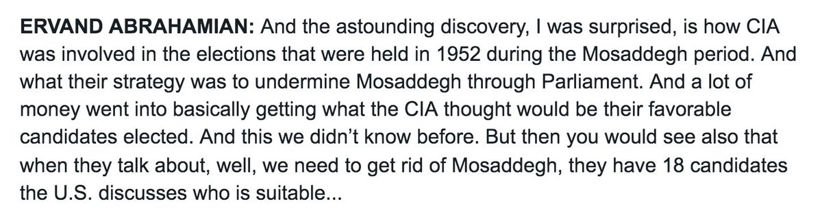 Newly declassified U.S. documents expose CIA meddling in 1952 Iranian election - a year before U.S.-backed coup. https://t.co/f85Se6B9Y9
