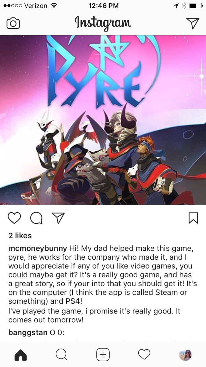 My daughter's 100% unbiased review of Pyre. I swear I didn't put her up to this. https://t.co/swY4bxkeUZ