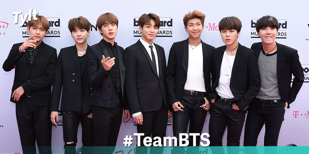 RT to vote #TeamBTS because these edgy K-pop superstars (@BTS_twt) are taking over the world in 2017   http:// tylt.it/LNJocC  &nbsp;  <br>http://pic.twitter.com/aXOOi0B0zc