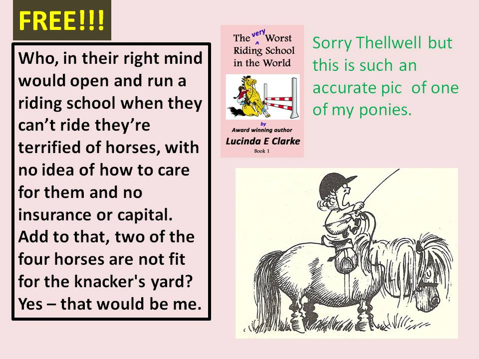 Have you got this yet? You wouldn&#39;t be that silly, would you? And it&#39;s free!   http:// myBook.to/WRS  &nbsp;   #amwriying #Horses #comedy<br>http://pic.twitter.com/xY6gFySuwP