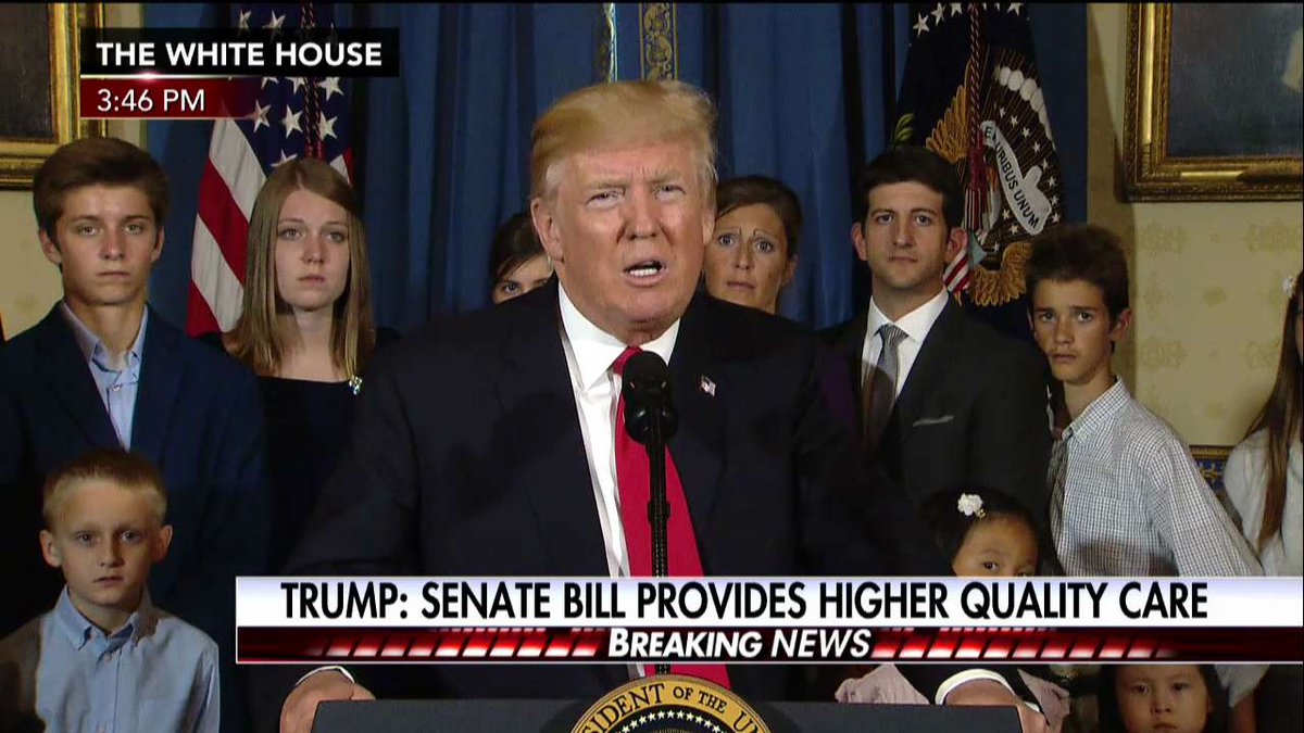 .@POTUS on Senate health care bill: 'For Democrats, this vote is a chance to make up for the terrible harm they have inflicted on Americans'
