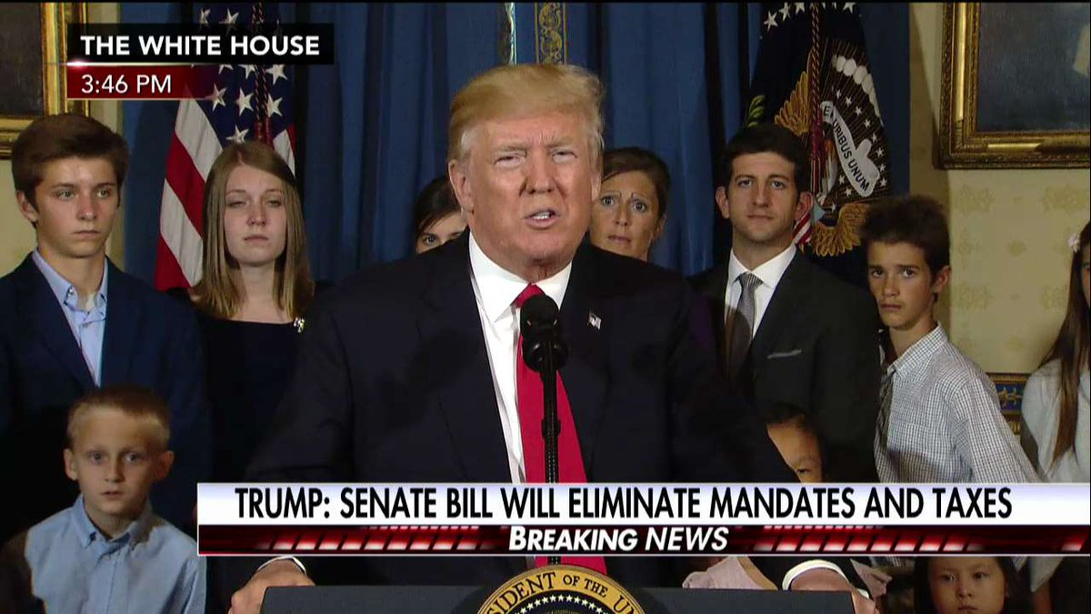 .@POTUS on health care bill: 'Any Senator who votes against starting debate is telling America that you are fine w/ the ObamaCare nightmare'