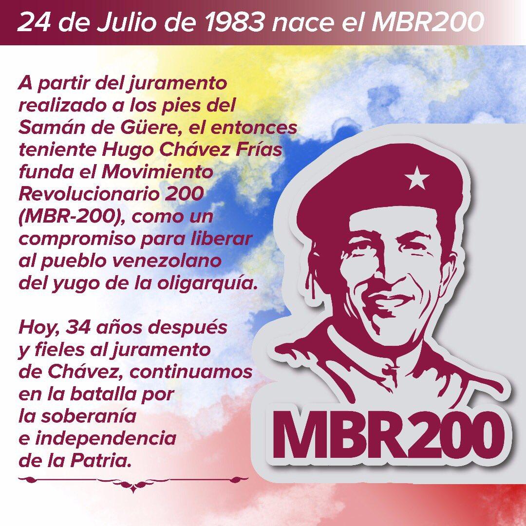 #Efemérides: El 24 de julio de 1983 nace el MBR 200 #BolivarPrimerConstituyente #VenezuelaCorazondeAmerica