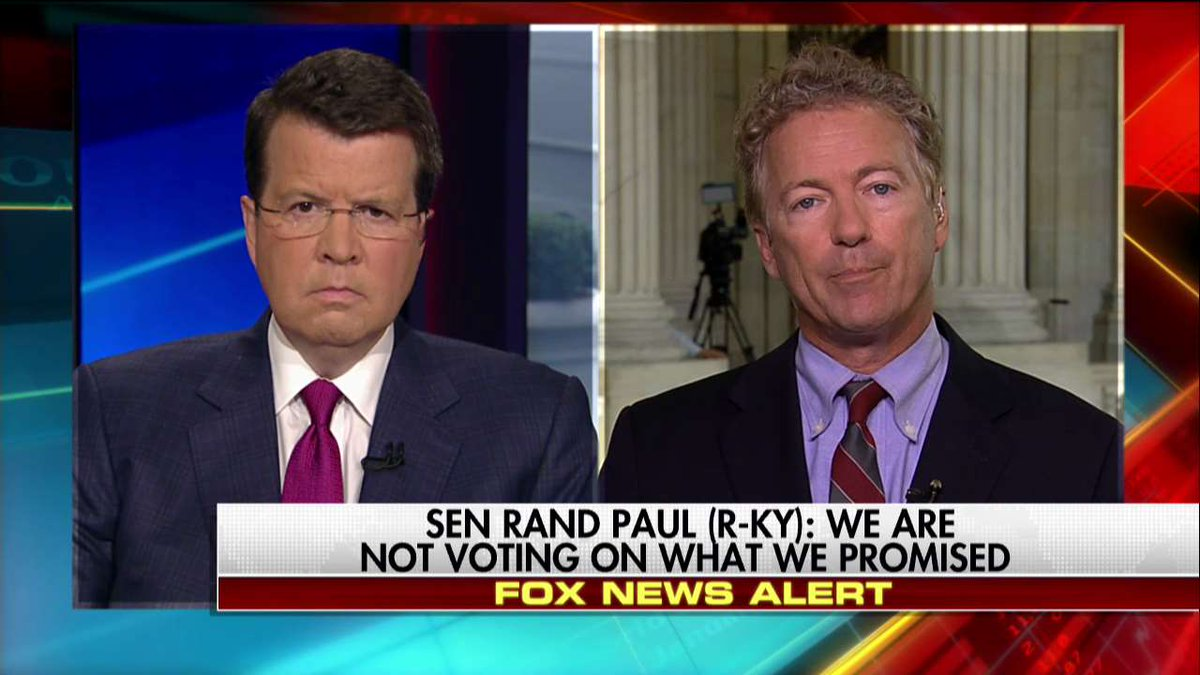 .@RandPaul on Senate health care bill: 'I think the death spiral of ObamaCare continues, but they're just going to subsidize it.' #Cavuto