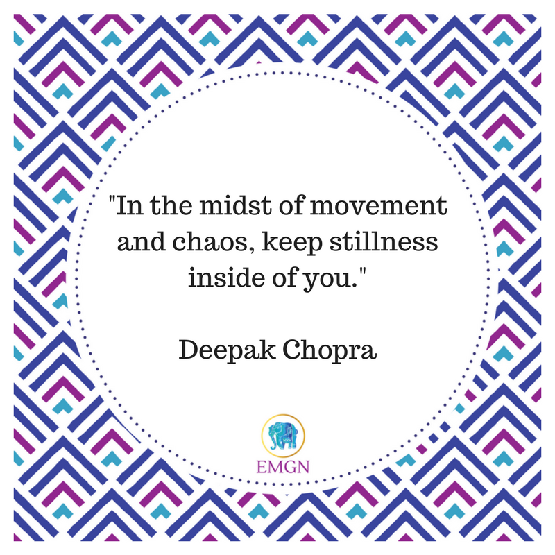 &quot;In the midst of movement and chaos, keep stillness inside of you.&quot; #DeepakChopra <br>http://pic.twitter.com/aGPv3N6jKC