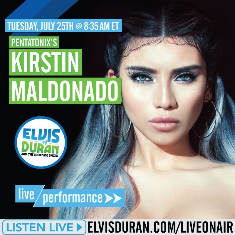 TOMORROW: We have @PTXofficial's @Kirstin 😘 LIVE on-air to perform in-...
