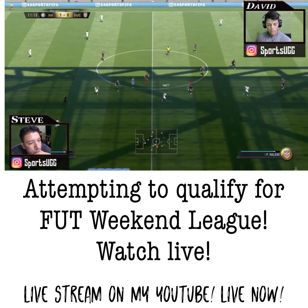 Watch live!   https:// youtu.be/ktHpjlsOZC0  &nbsp;    #fifa #dailytournament #fut #knockouttournament #fifa17 #livestream #youtube #twitch #chat<br>http://pic.twitter.com/8lgUbcfaov