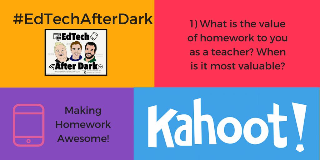 Thumbnail for Kahoot! & #EdTechAfterDark chat - making homework awesome!